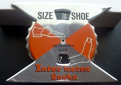 Great OLD Inter-Woven Socks Co. Shoe to Socks Size Display Volvelle