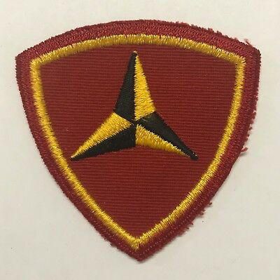 Original WWII USMC 3rd Division Patch On Twill
