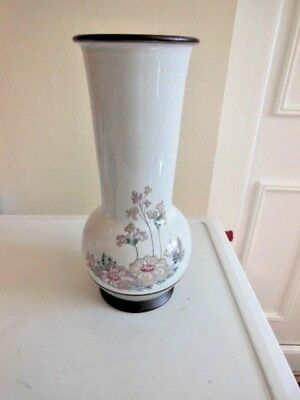 Denby Romance Handcrafted Stove Pipe Shaped Vase 10'' Tall  Vgc