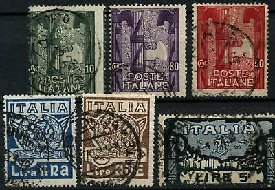 Italy 1923 SG#146-151 Fascist March On Rome Used Set #D75107