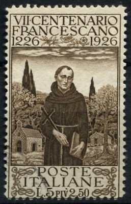 Italy 1926 SG#196A 5L + 2L50 St, Francis Of Assisi Used #D75134