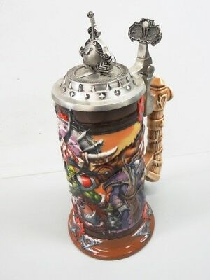 World Warcraft Limited Edtion Ceramic Beer Stein with Pewter Lid - ORE