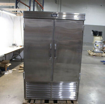 "Leader LR48 48"" 2 Solid Door Reach In Stainless Commercial Refrigerator"