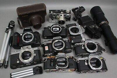 15 Lb GRAB BAG PHOTO BOX LOT CAMERAS FLASHES TRIPODS for PARTS
