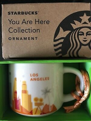 Starbucks Ornament Cup YAH LOS ANGELES You Are Here Espresso Mini Mug Demitasse