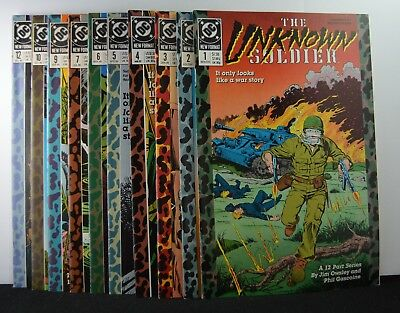 Unknown Soldier #s: 1,2,3,4,5,6,7,9,10,12   (DC, 1988)  10 Issues!