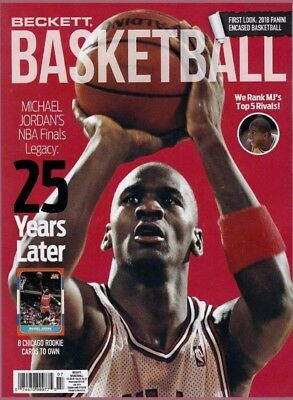 New Beckett Basketball Card Price Guide #310 July 2018 Michael Jordan On Cover
