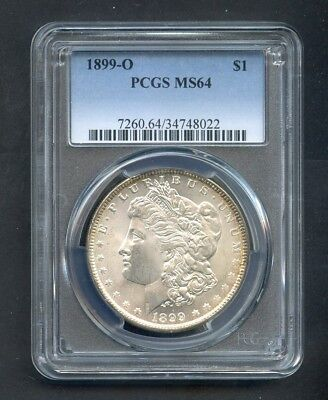 1899-O Morgan Silver Dollar $1 PCGS MS64