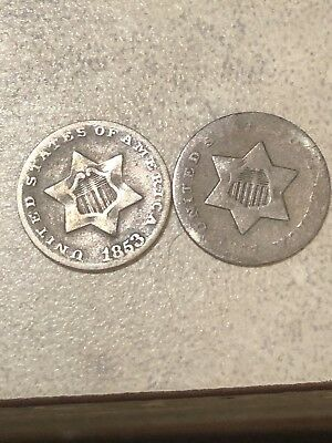 3 Cent Silver Lot * Trime Lot.* Great Lot * Great Price!! Buy Now!!