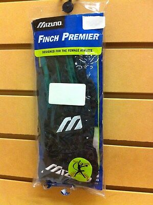 Mizuno Finch Premier Batting Gloves Women's Adult Medium Green/Black MAKE OFFERS