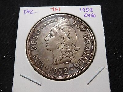 T61 Dominican Republic 1952 Peso