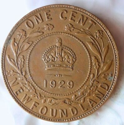 1929 NEWFOUNDLAND CENT - RARE EARLY Type - High Quality Coin - Lot #619