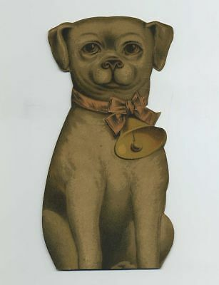 1800s Die Cut Stand-Up Puppy Dog Advertising Trade Card Bogue Lookee Soap bv7807