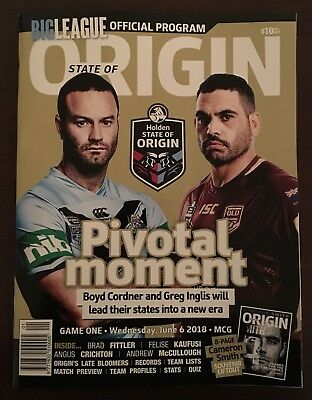 BIG LEAGUE - 2018 NRL STATE OF ORIGIN NEW SOUTH WALES v QUEENSLAND RECORD