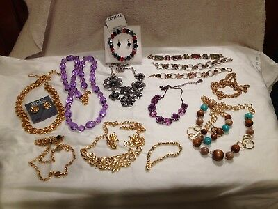 Estate Sale Find Mixed Lot of 14 +  Pieces Vintage, Costume,  & Designer Jewelry