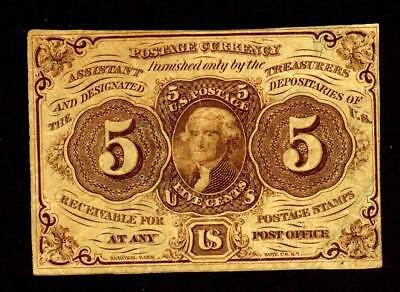 5 Cent Fractional Currency First issue Postage Note **MORE CURRENCY FOR SALE**