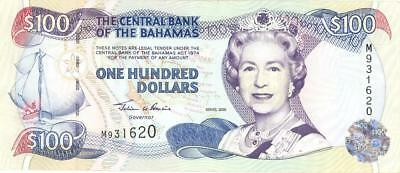 Bahamas $100 Dollars Currency Banknote 2000  AU