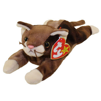 TY Beanie Baby - POUNCE the Cat (8 inch) - MWMTs Stuffed Animal Toy