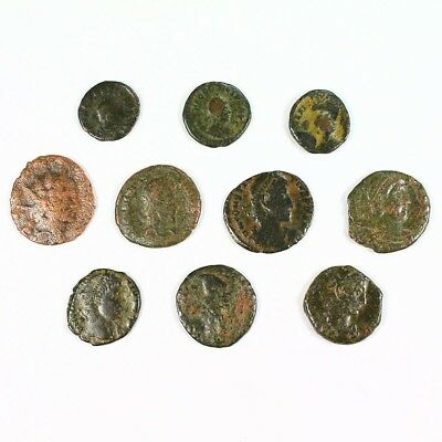 Ten (10) Nicer Ancient Roman Coins c. 100 - 375 A.D. Exact Lot Shown rm2838