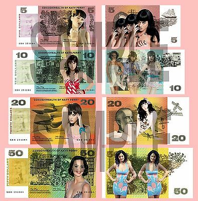 Set Of 4 Katy Perry Double Sided Fun Australian Style Notes