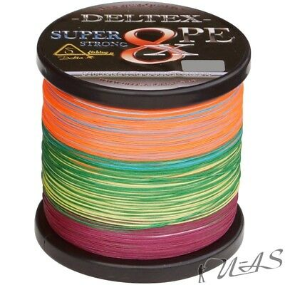 Deltex Super Strong Multicolor 0.30Mm 300M 8 Fach Geflochtene Angelschnur Kva