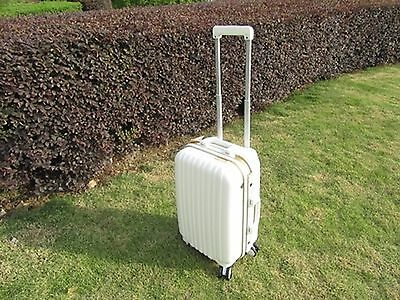 1X 20 Inch White Universal Wheel Lock Travel Suitcase Luggage Bag