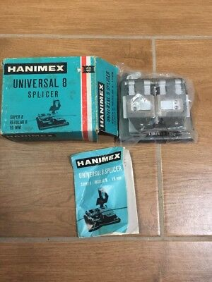 Rare Vintage Hanimex Universal 8 Splicer Super 8 Regular 8 & 16mm Made in Japan