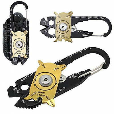 Outdoor 20 in 1 Pocket Multi Tool Keychain Survival Screwdrivers Wrench Keyring