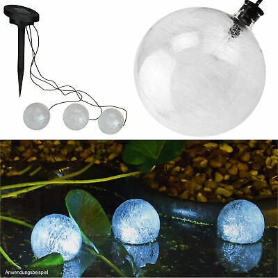 3er Set LED Teichlampe Solar Strahler Teich Lampe Beleuchtung Teichbeleuchtung