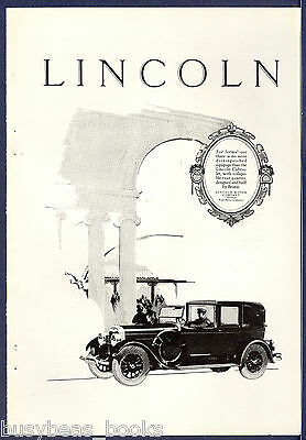 1926 LINCOLN advertisement, Lincoln Cabriolet, chauffeur
