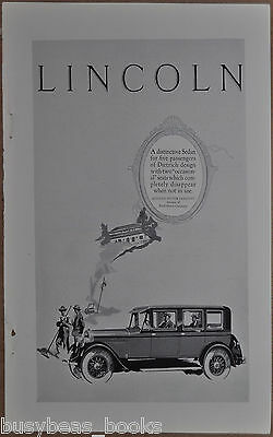 1926 Lincoln advertisement, large LINCOLN sedan, chauffeur, country club