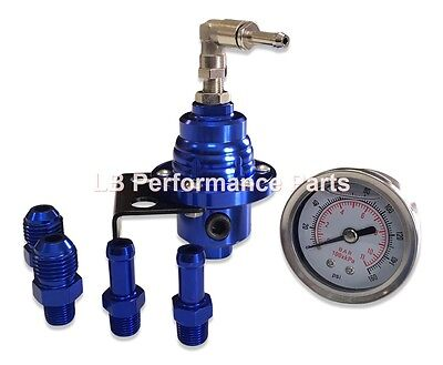 Fuel Pressure Regulator & Gauge for Subaru Impreza WRX - Blue