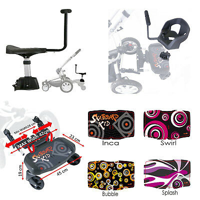 Buggy Board With Optional Seat/Saddle To Fit Mothercare Jive Stroller
