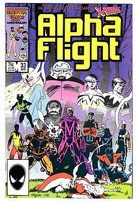 Alpha Flight 33 (04/85) NM- Condition First Lady Deathstrike Appearance
