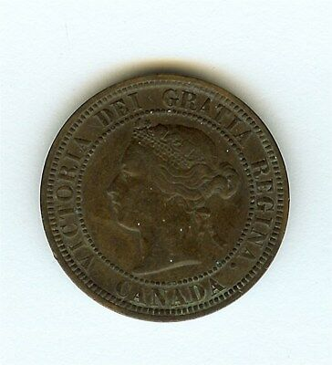 Canada 1881-H Large Cent  About Uncirculated