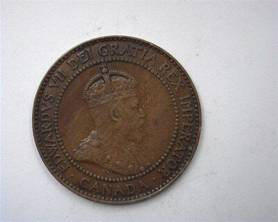 Canada 1909 Large Cent  Nearly Uncirculated
