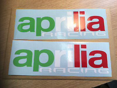 X2 Aprilia Racing Decals Stickers Italian colours For Tank, Fairing,Toolbox ect