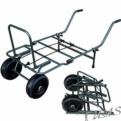 Delta Fishing Trolley Mini Packmass Carp Barrow Angelkarre Transportwagen Kva