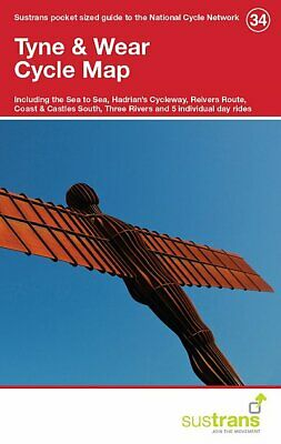 Tyne & Wear Sustrans Cycle Map 34 Sea to Sea Hadrians Cycleway Reivers