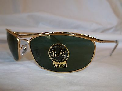 Ray Ban Olympian Sunglasses Rb3119 001 Arista Gold Green 62-19-120 New Authentic
