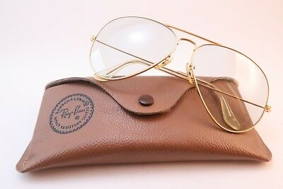 Vintage B&L Ray Ban sunglasses aviator BL etched lens size 62-14 made in the USA