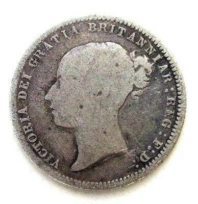 Great Britain Uk Coins, Sixpence 1871, Victoria, Silver 0.925