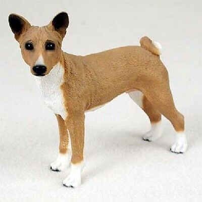 BASENJI dog HAND PAINTED FIGURINE Resin Statue COLLECTIBLE puppy NEW