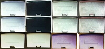 4 Clear /4 clear blue/ 2 White / 2 Purple BATTERY COVERS GAMEBOY ADVANCE