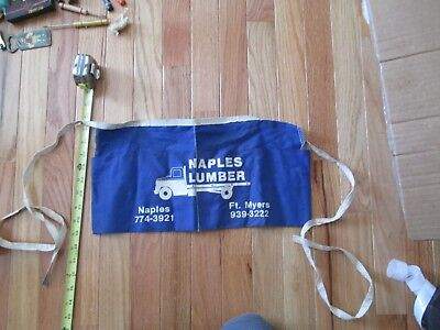 Naples Lumber Florida Ft Myers Advertising Mens Construction apron for nails