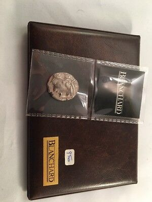 Genuine ancient Athenian Owl Silver Tetradrachm about 17 grams with case and COA