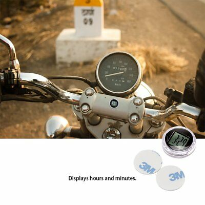 Mini Digital Clock Stick-On Mount Watch For Car Motorcycle Motorbike Bike  CA