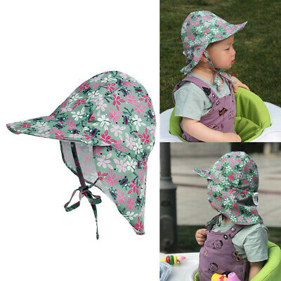 Baby Legionnaire Cap Kids Summer Outdoor Sun Protective Holiday Floral Hat