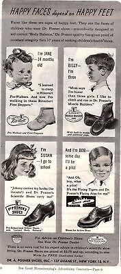 1945 Good Housekeeping Magazine Advertisement Dr. A. Posner Shoes 1 Page 335