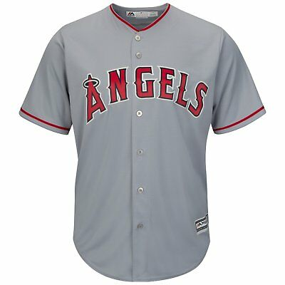 MLB Baseball Trikot Los Angeles Angels L.A. grau Road Cool base Majestic Jersey